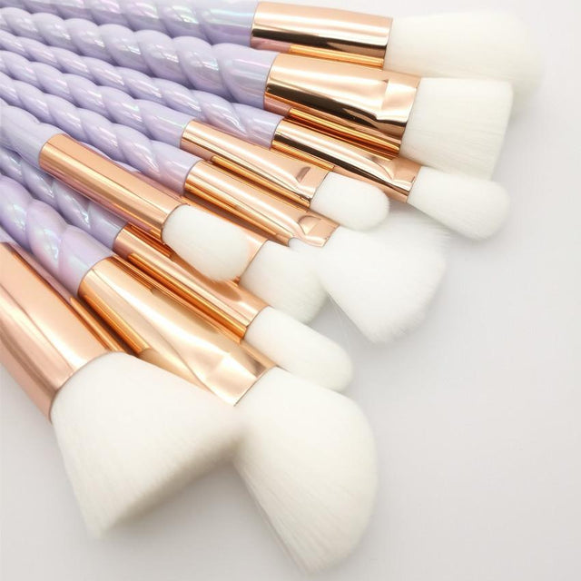 10 Piece Unicorn Makeup Brush Set (2 Colors) - GottaHaveNow.com