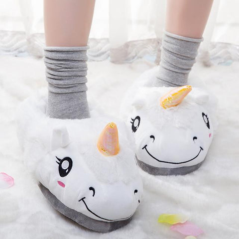Plush Unicorn Slippers - GottaHaveNow.com