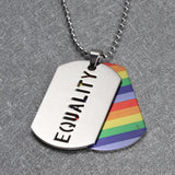 Double Layer LGBT Tag Necklace - GottaHaveNow.com