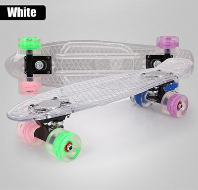 Transparent Full Light-Up Skateboard - GottaHaveNow.com