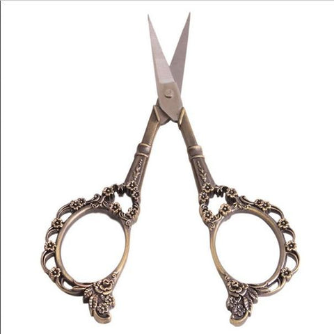 Antique Style Sewing Scissors (3 tones available) - GottaHaveNow.com
