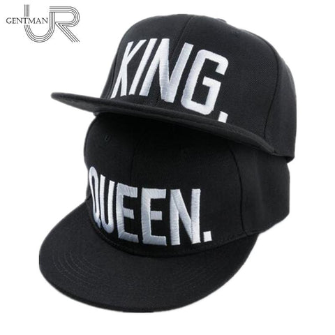 King & Queen Embroidered Hats - White - GottaHaveNow.com