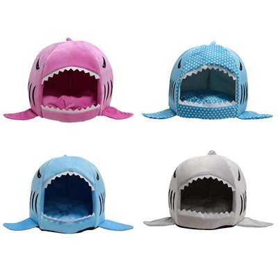 Cat & Dog Cozy Shark Bed