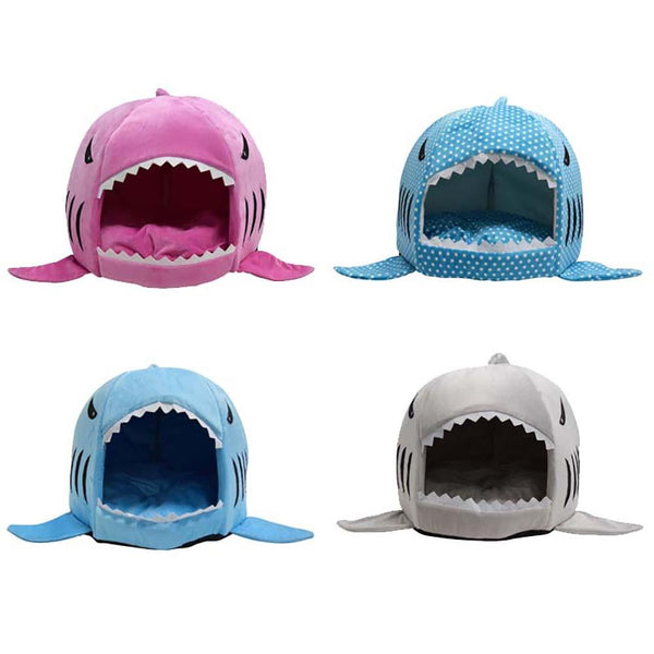 Cat & Dog Cozy Shark Bed - GottaHaveNow.com