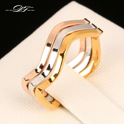 Gold Plated 3 Tone Rings