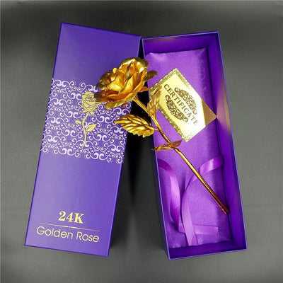 24k Gold Dipped Rose with Gift Box + Gift bag + Certificate of Authenticity!