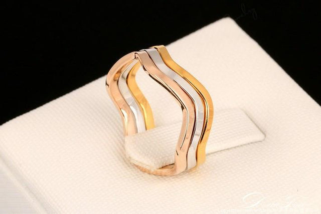 Gold Plated 3 Tone Rings - GottaHaveNow.com