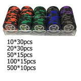100 Pcs x Ceramic Casino Chips (Weighted) - GottaHaveNow.com