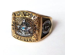 Gold Past Master Mason Champion Ring - GottaHaveNow.com