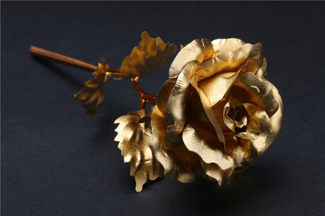 24k Gold Dipped Roses x 10 (with Gift Boxes or without option) - GottaHaveNow.com