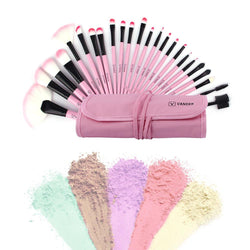 24 Piece Makeup Brush Set With Holder Case - GottaHaveNow.com