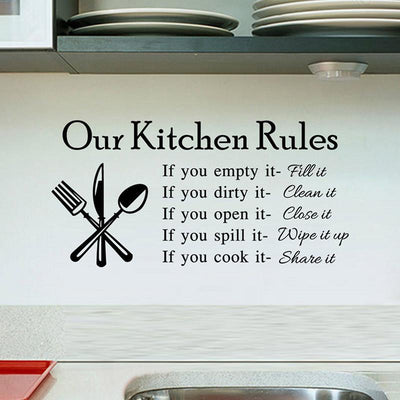 Kitchen Rules Removable Wall Decals