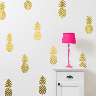 Chic Pineapple Removable Wall Decals