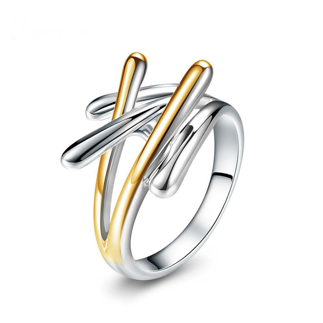 Contemporary Gold & Silver Ring - GottaHaveNow.com
