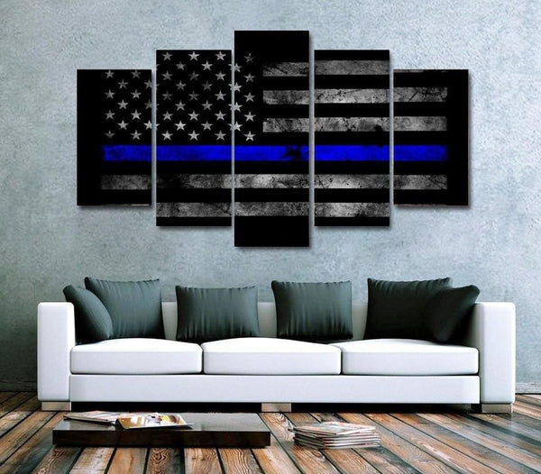 USA Thin Blue Line ART - 5 Panels - GottaHaveNow.com