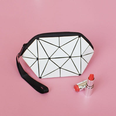Geo Lucent Prism Cosmetics Bag