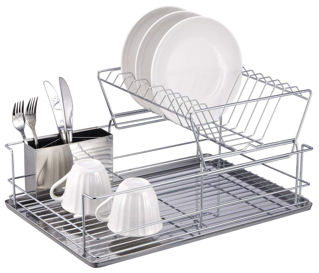Dish Drying Rack with Removable Utensil Holder
