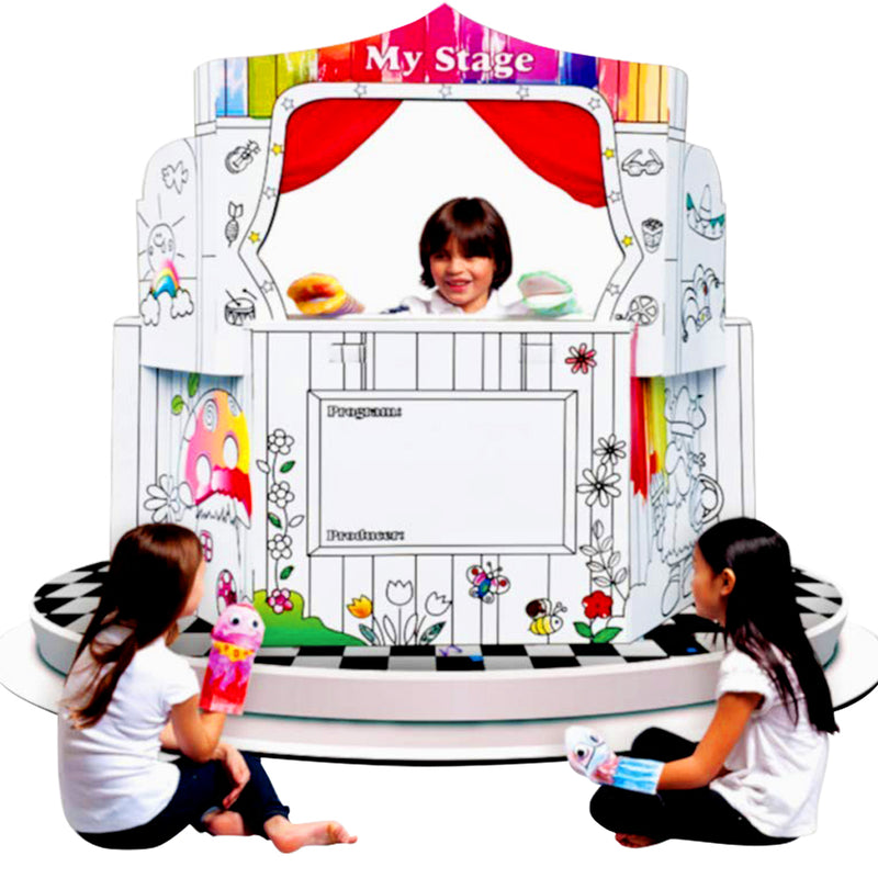 My Stage Playhouse - Coloring Cardboard House