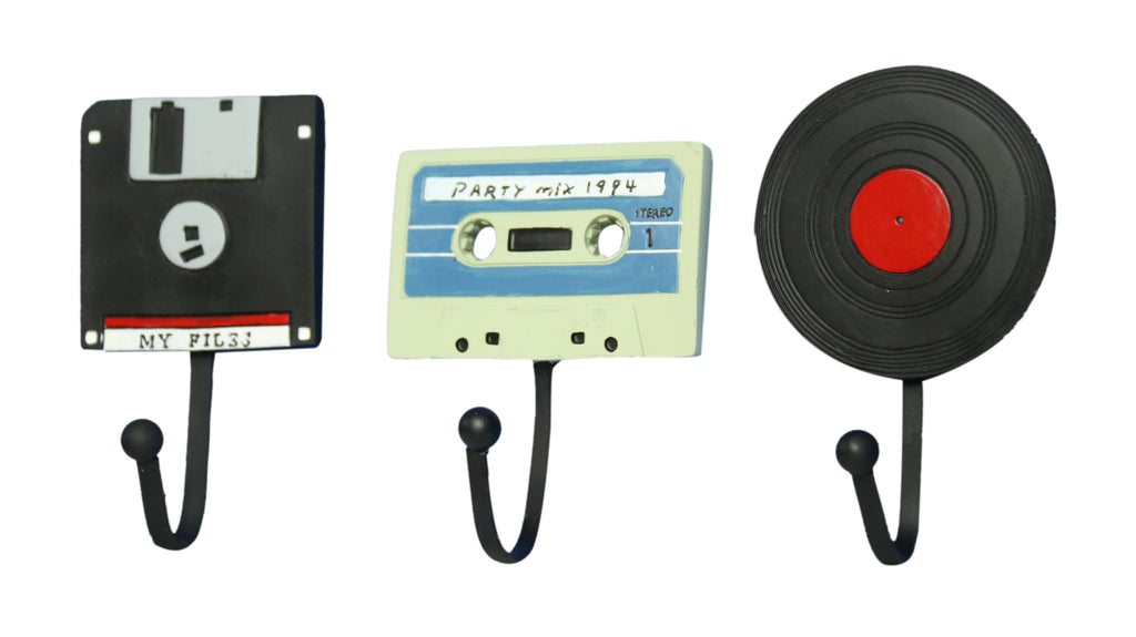 Oh! Trendy Classic Disc, Cassette and Record Wall Hangers by Oh! Trendy