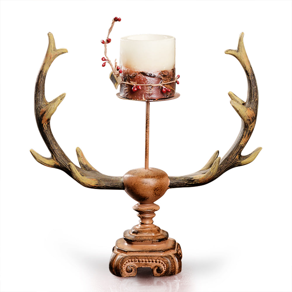 Antler Candle Holder with Stand