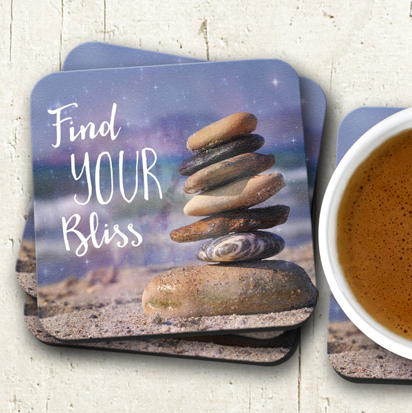 find your bliss coasters