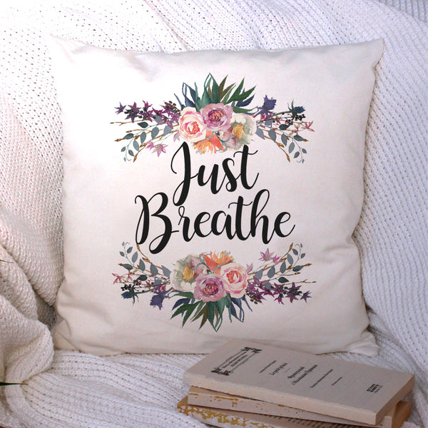 just breathe cushion cover