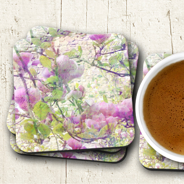 Pink Blossom Coasters