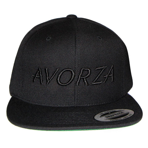 Black Tone on Tone Snapback/Avorza