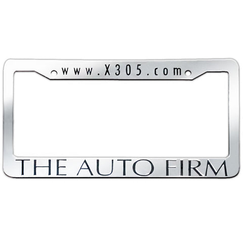 The Auto Firm Plastic Chrome License Frame