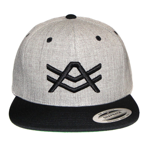 Grey and Black Two-Tone Snapback/Logo