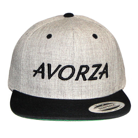 Grey and Black Two-Tone Snapback/Avorza