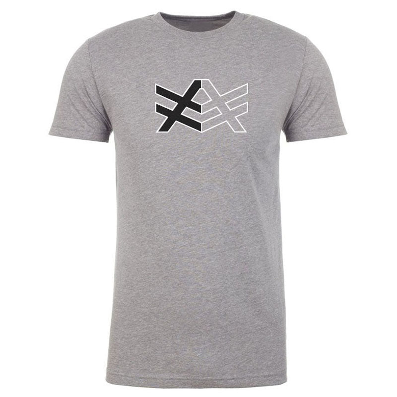MT7 Light Grey Fitted T-Shirt Black/White AV Logo