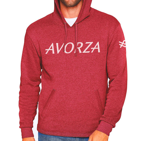 UTH2 Red Fleece Hoodie White Avorza