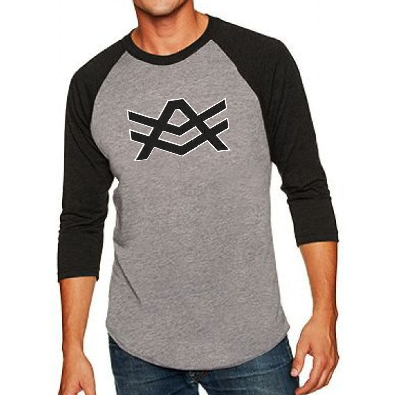 UTR3 Grey/Black Raglan Black/White Logo