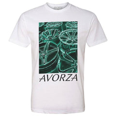 MT5 White T-Shirt Green Avorza Wheels