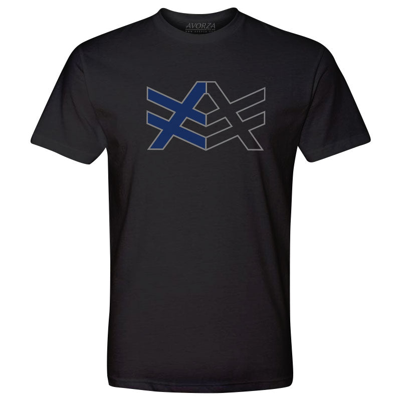 MT1 Black Fitted T-Shirt Blue/Black AV Logo