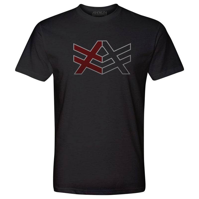 MT2 Black Fitted T-Shirt Red/Black AV Logo