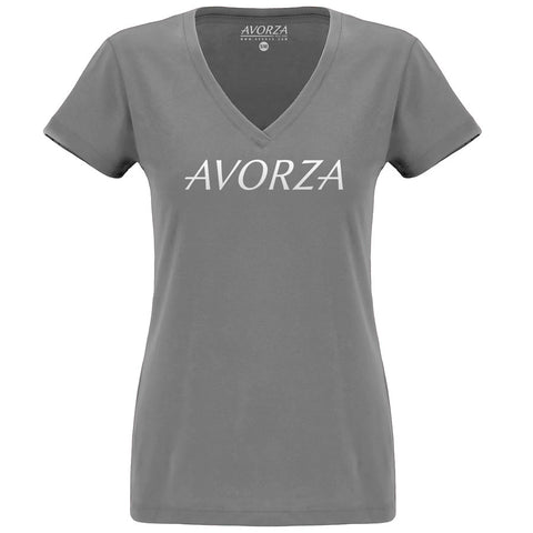 WTV3 Grey Deep V-Neck T-Shirt White Avorza