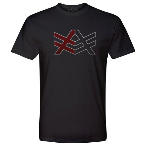 YT1 Youth Black T-Shirt Red/Black AV Logo