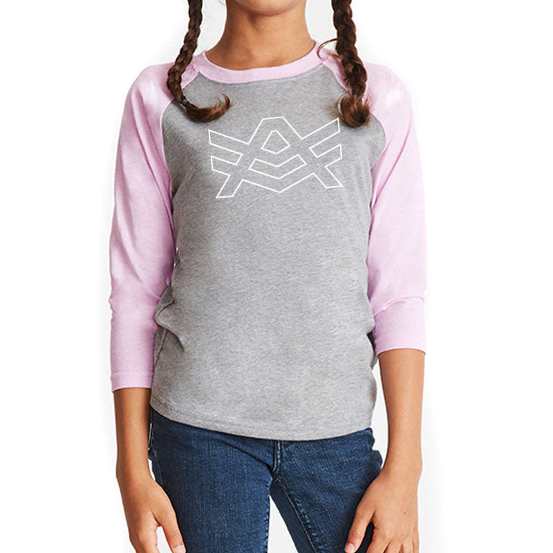 YTR2 Grey/Lilac Raglan White Outline Logo