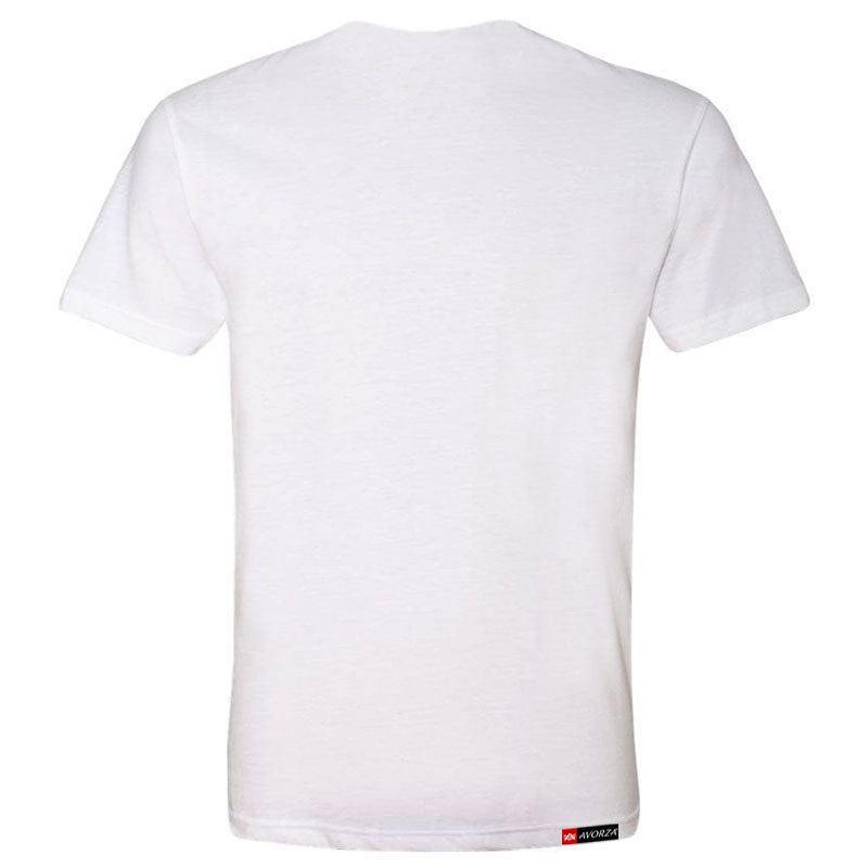 MT4 White Fitted T-Shirt Red/White AV Logo