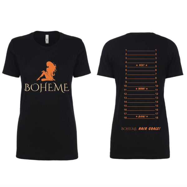 Boheme Hair Length Check T-Shirt