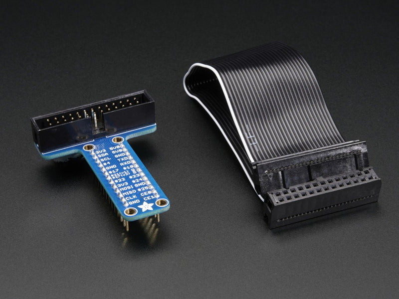 Pi T-Cobbler Breakout Kit for Raspberry Pi with GPIO Cable - Assembled!