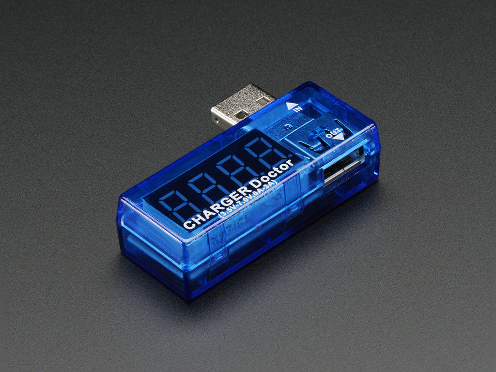 Adafruit USB Charger Doctor - In-line Voltage and Current Meter