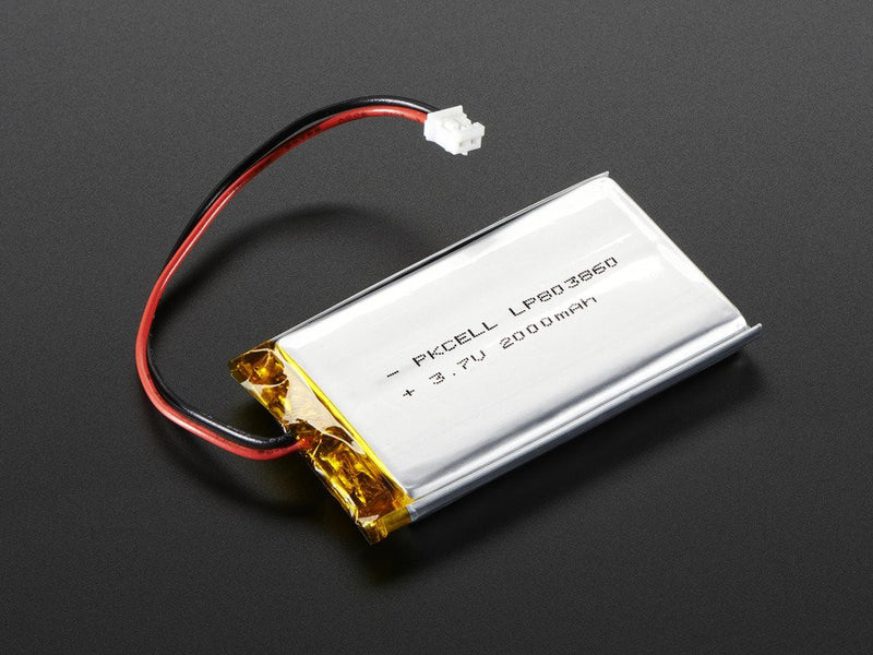 Adafruit Lithium Ion Battery - 3.7v 2000mAh