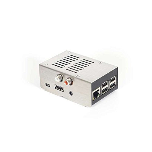 HiFiBerry Silver Steel case for DAC+, brushed cover for Pi2/3