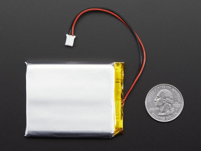 Adafruit Li-Ion 3.7V Battery, 2500mAh