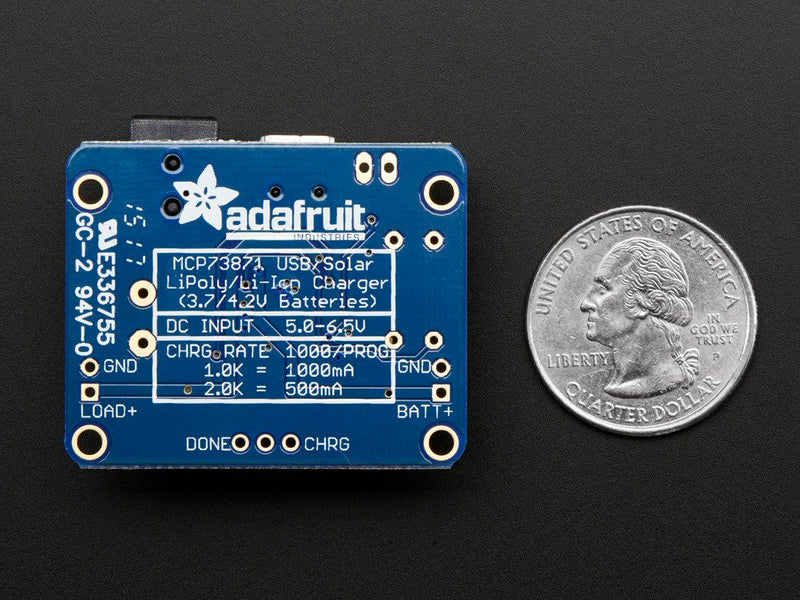 Adafruit USB/DC/Solar Lithium Ion/Polymer Charger