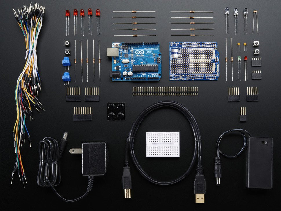 Adafruit (PID 68) Starter Pack for Arduino (Includes Arduino Uno R3)