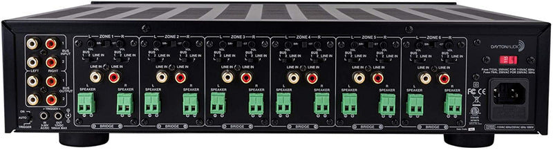 Dayton Audio MA1260 Multi-Zone 12 Channel Amplifier 60WPC